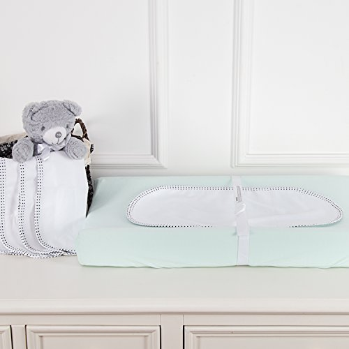 TILLYOU Tear Resistant Waterproof Changing Pad Liner, Premium Changing Table Cover Double Layer, 100% Cotton Flannel Surface and TPU Back Coating, 11.5''x23'', 6 Count by TILLYOU (Image #1)