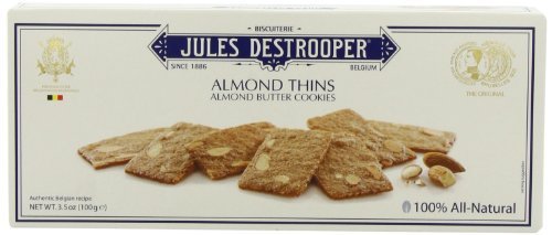 Thins Almond (Jules Destrooper Almond Thins, 3.5-Ounce Boxes (Pack of 12))