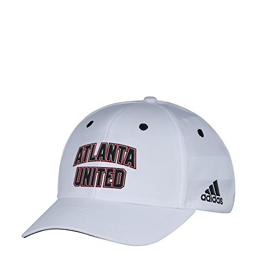 fan products of MLS Atlanta United FC Men's White Wordmark Structured Adjustable Hat, One Size, White