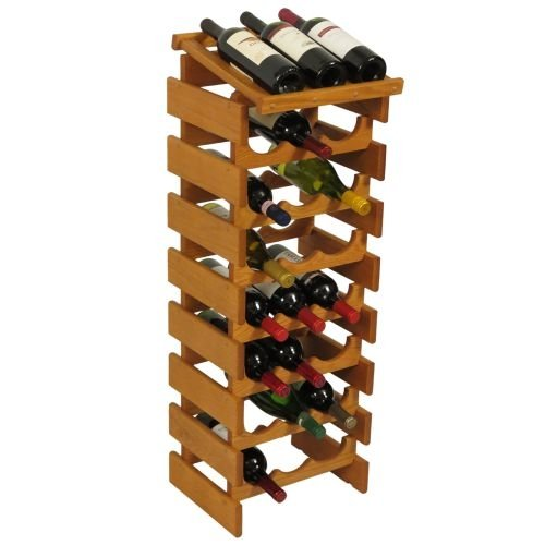 24-Bottles Wine Rack in Medium Oak Finish