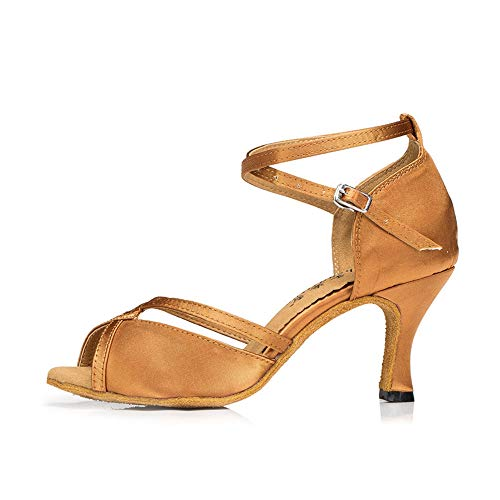 Banquet Yellow7 Dancing Women's Shoes Heels Latin Sandals QXH High Dance Suede 5cm FIwSZ