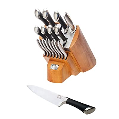 Chicago Cutlery 1119644 Fusion 18-Piece Knife Block Set, Stainless Steel