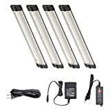 Lightkiwi Dimmable LED Under Cabinet Lighting 4 Panel Kit, 6 Inches Each, Warm White (3000K), 7.2 Watt, 24VDC, Dimmer Switch & All Accessories Included, Low Profile, Sturdy Aluminum Body, UL Listed Review