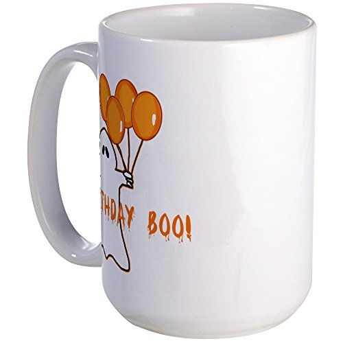 CafePress - Halloween Birthday Boo Large Mug - Coffee Mug, Large 15 oz. White Coffee -