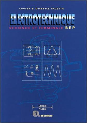 Livre gratuits en ligne Electrotechnique 2e professionnelle et Tle BEP epub pdf