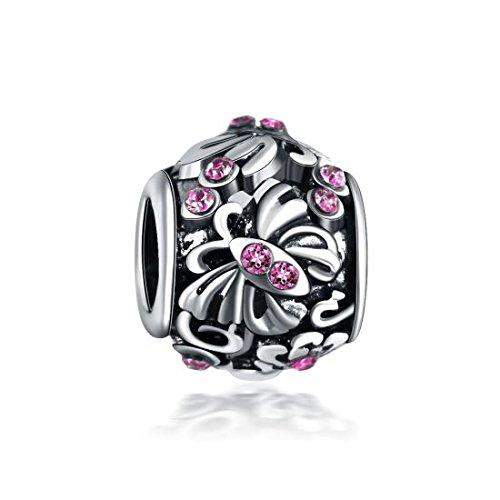 Charm Papillon Violet Charms Perles Bracelets compatibles Toutes Marques Soldes dhiver id/ée Cadeau