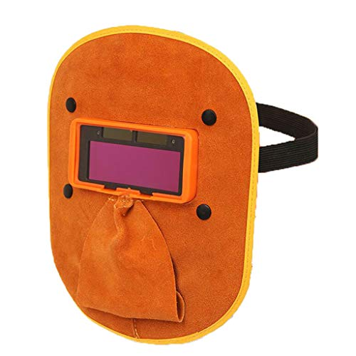 Leather Welding Mask Head-mounted Automatic Dimming Welding Cap Glasses Welder Protection Argon Arc Welding by Moolo