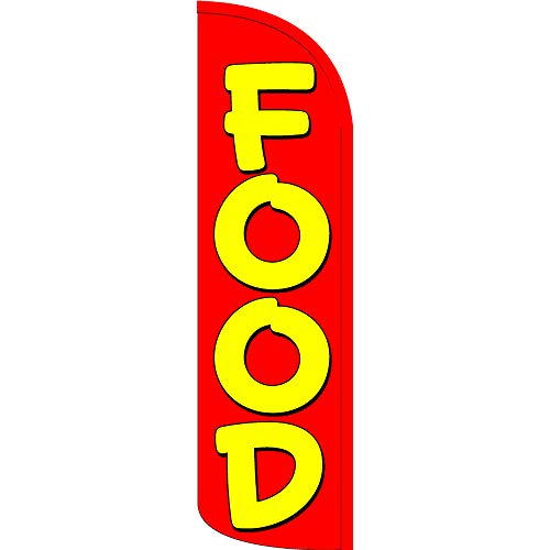 - Food Windless Feather Flag, FLAG ONLY (11.5' Tall x 3' Wide)