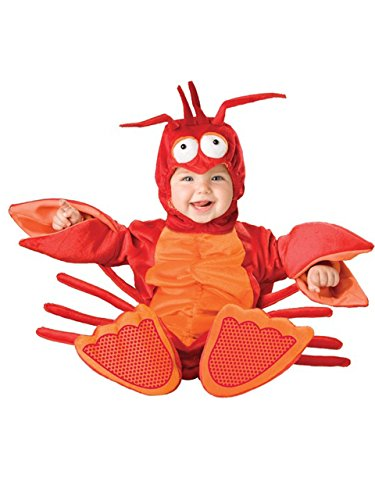 WL Baby Costume Lobster 3-24M Flannel Long Sleeve one Piece Baby Cosplay Clothing Romper Clothes (3-6M)]()