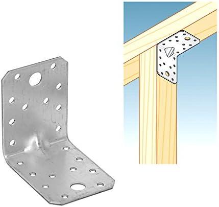 Charges Lourdes Equerre Renforcee Avec Nervure Construction Angle Connecteur A Bois Galvanise 7 X 7 X 5 5 Cm Amazon Fr Bricolage