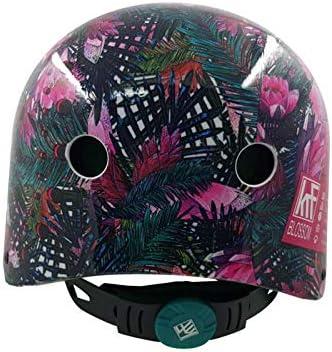 S KRF The New Urban Concept Des Krf Prot Blossom Casco Protecci/ón Corporal Mujer Rosa//Verde Multicolor