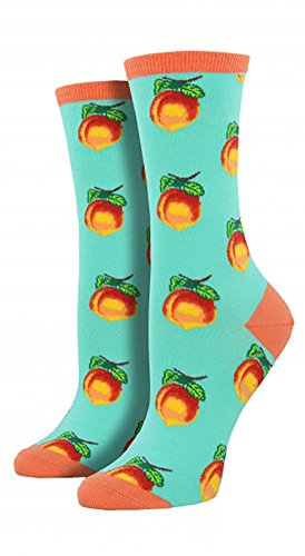 Socksmith Women's Novelty Crew Socks Georgia Peach - Aquamarine