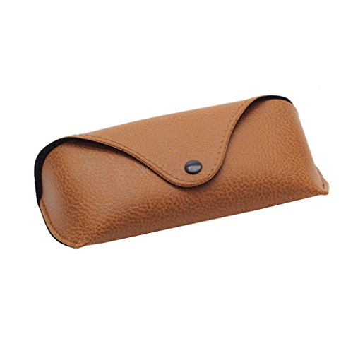 Yumian Durable Leather Eye Glasses Protector Sunglasses Shell Hard Case Box Pouch Bag