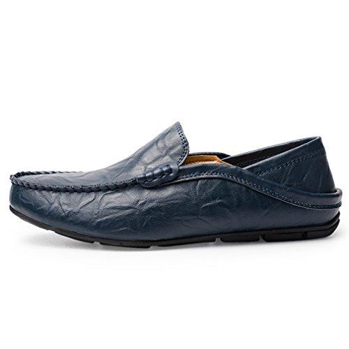 Casual Penny Holiday Eleganti da Blue 38 da 46 Slip Scarpe On Uomo EU Guida Classic Scarpe Pelle Mocassini Loafers Sunny zdxqFnPgP