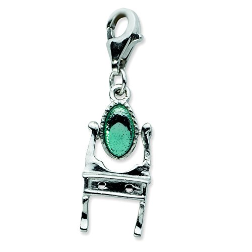Amore La Vita Sterling Silver Enameled Vanity with Lobster Clasp -
