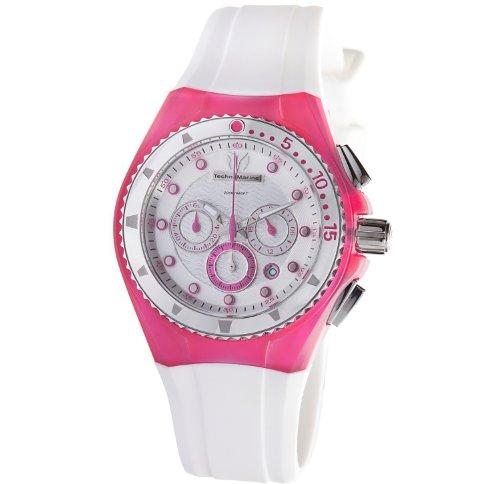 TechnoMarine Unisex 109012 Cruise Beach Pink/White Interchangeable Strap Watch