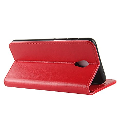 M6S Credit Leather with Premium Red ID Meilan HualuBro Meizu Protective PU Wallet Case for Card Slots M6S Flip Brown Case Phone Cover Meizu Handmade S6 Zx5xqnpfO