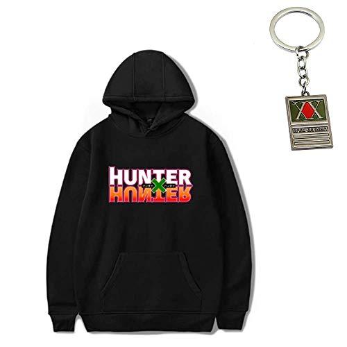 Shareef E-Com Hunter X Hunter Hoodie with Free Hunter X Hunter Keychain (Black, Tag XXX-Large/US Size X-Large)