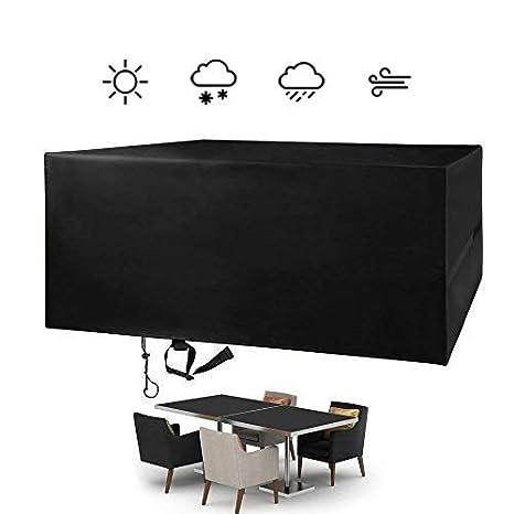 FlyLemon Fundas Muebles Jardin, Tela 420D Impermeable Anti-UV Patio Protectores con DiezTamaños. (180 * 120 * 74 cm)