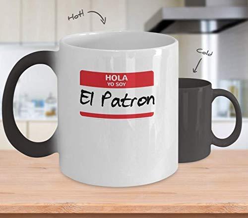 Funny Latino Immigration Gift Hola Yo Soy El Patron Simple Halloween Costume Novelty Mug Cup Gift for Kitchen Decor Coffee Mug 11OZ