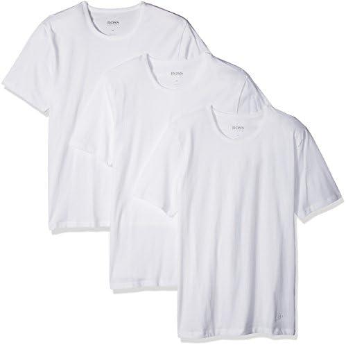 Pack of 3 Medium Multicolor 999 BOSS Mens RN 3P CO T-shirt