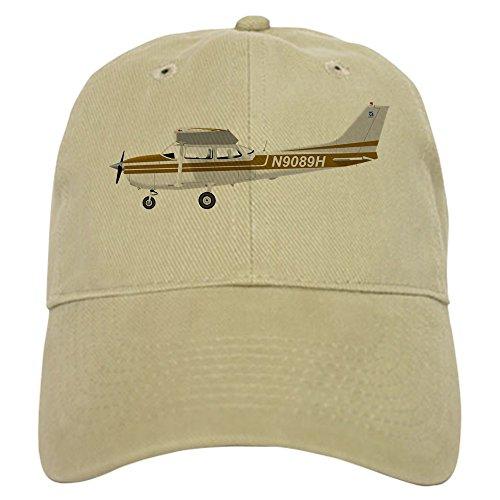 CafePress Cessna 172 Skyhawk Brown Cap Baseball Cap with Adjustable Closure, Unique Printed Baseball Hat