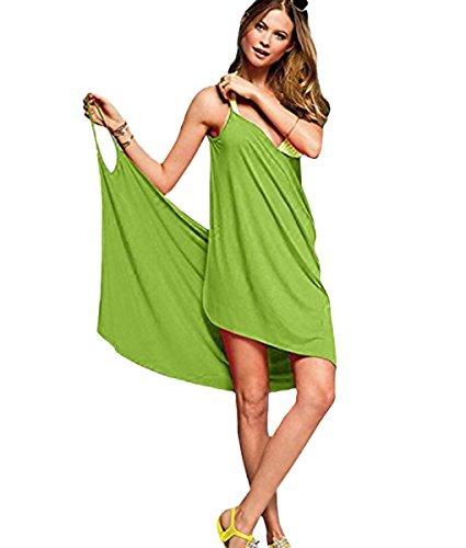 Donna Schienale Cover Dress A up Beach Bikini Holiday Hollow Scollo Bagno V Minetom Chiaro Costume Tute Vestito Verde Da Senza 4SR5LAqc3j