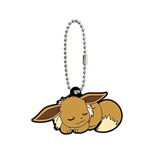 Bandai Pokemon Eevee Special Character Gacha Capsule Rubber Key Chain Mascot Collection Anime Art Ver.2