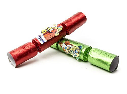Party Pieces Christmas Crackers - Traditional English Santa Claus Party Mini Crackers - Set of 8