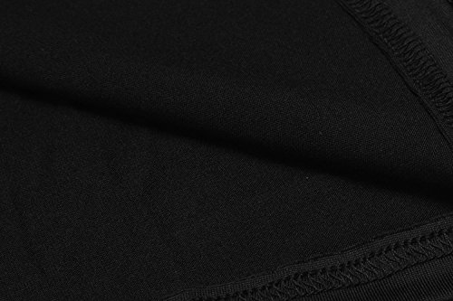 Manga Fiesta Mini sin de Vestido Vestido Encaje negro Casual Soteer Mujeres Larga Corto Manga xvw01vPaq