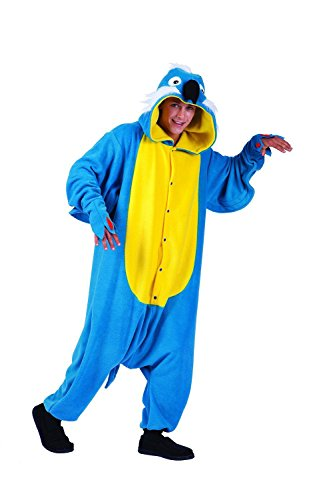 Adult Pepper Parrot Costume Pajamas Funsie Blue Rio Halloween +eBook - Rio Blue Bird Costume