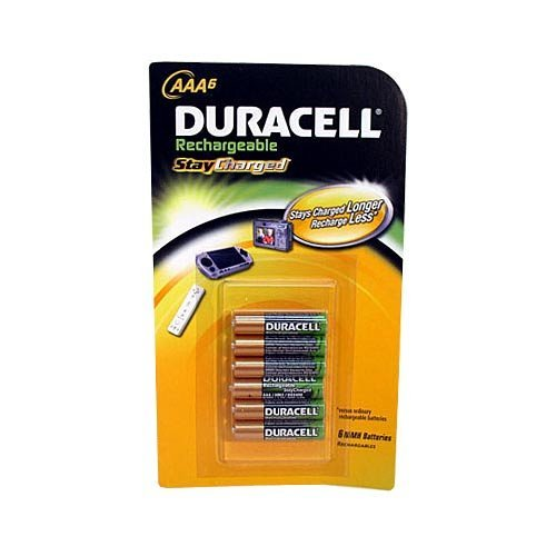 Duracell AAA Pre-Charged Rechargeable 800mAh Batteries (6 pack) Model: DX24B6TB (Electronics Consumer Store) ()