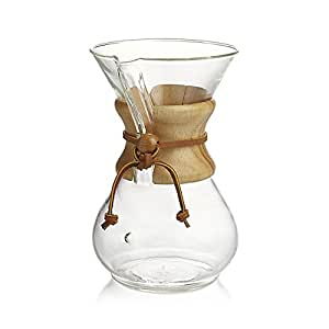 Small Chemex Coffee Maker : Amazon.com: Chemex Classic Glass Coffee Maker with Foxgallery Guide, 8-Cup: Kitchen & Dining