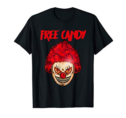 Scary Clown Shirt Mens Creepy Halloween Costume Evil Killer T-Shirt