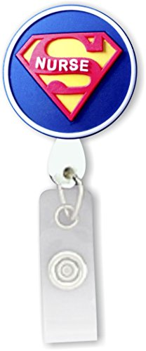 Nurse Badge (Super Nurse 3D Rubber Retractable Badge Holder)