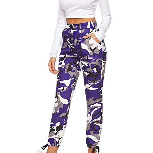 Women Sports Camouflage Sweatpants Casual Camouflage Trousers Jeans