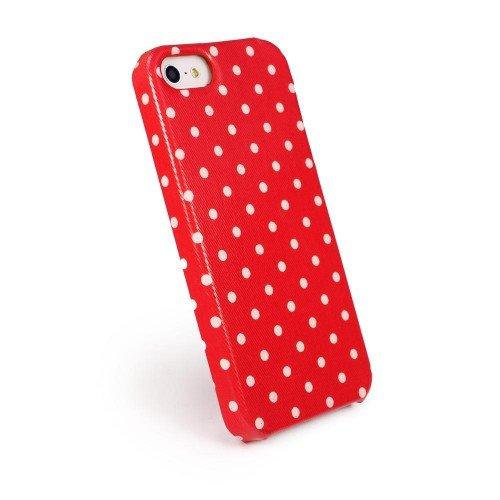 Tuff-Luv Tuff-Shell Tasche für Apple iPhone 5: (inkl. Displayschutz) - Himbeere - polka hot