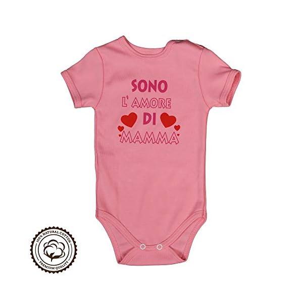 Repanda Body Neonato Divertenti - 2 Dolci Idee Regalo: Sono l'amore di Mamma e Papà - 100% Cotone - Body Manica Corta 5
