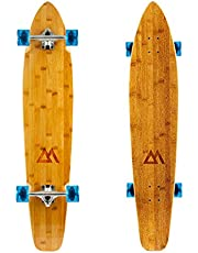 Magneto 44 inch Kicktail Cruiser Longboard Skateboard   Bamboo and Hard Maple Deck   Made for Adults, Teens, and Kids …