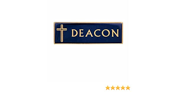 Deacon Magnetic Badge Pin Blue, Gold Large Pack of 2 by Sterling Gifts