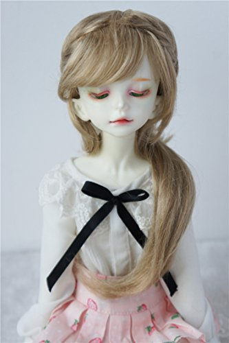 Light Mohair Brown (JD188 7-8inch 18-20CM Fraga Long BJD Doll Wigs 1/4 MSD Synthetic Mohair Doll Accessories (Light Brown))