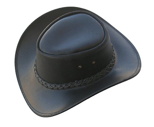 Old Harry's Hats Men's Western Style Leather Cowboy Hat Medium (Old Western Hats)