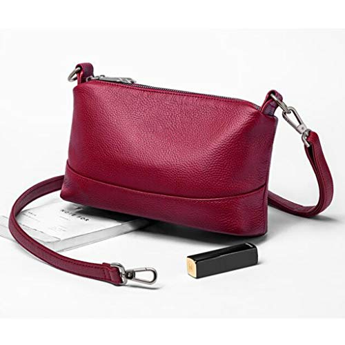 À Solid Red Handbag Wild Sac Bandoulière Red couleur Nouveau Lychee Color Lady 5UXwqfxHA