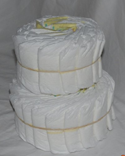 Decorate It Yourself 2 Tier Plain Diaper Cake 32 Diapers