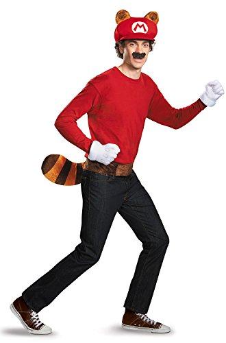 Super Mario Bros Nintendo Mario Raccoon Instant Costume Kit Adult