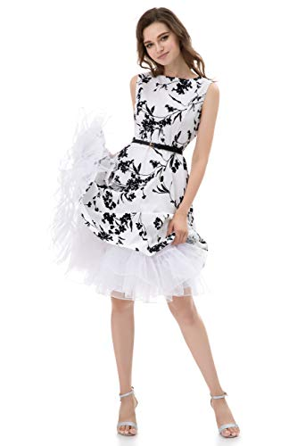 (MEITM Women's 50s Vintage Rockabilly Petticoat 28'' Length Net Tulle Underskirt Petticoat Half Slip (L,)
