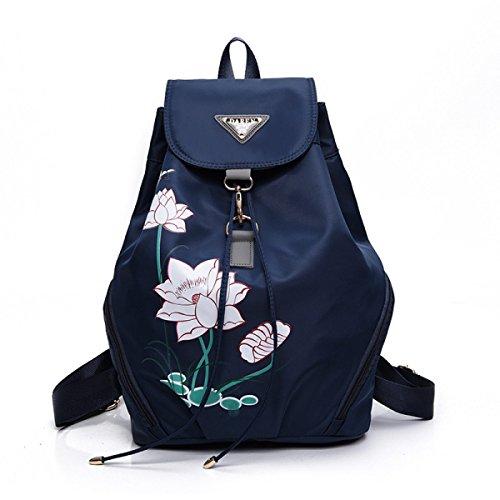 Nuevo Nylon Señoras Bolso De Hombro Versión Coreana Viento De La Universidad Ocio Recorrido Pequeño Morral Manera Lona bolso De Escuela Azul