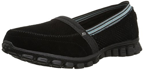Price comparison product image Skechers Sport Women's EZ Flex Tweetheart Fashion Sneaker, Black/Blue, 7 M US