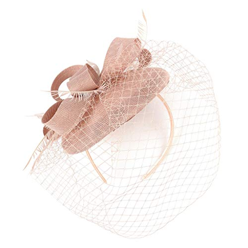 Fascinators Hat for Women QUNANEN Fascinators Hats 20s 50s Hat Pillbox Hat Tea Party Headwear Hair Accessories Fancy Headband