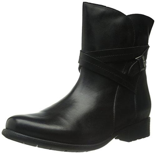 Black Women's Boot Clarks Leather Square Plaza AIdxOwqB